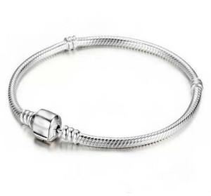 Fabrik Großhandel 925 Charme Sterling Silber Armbänder 3mm Schlangenkette Fit Pandora Perle Armreif Schmuck Geschenk Für Männer Frauen