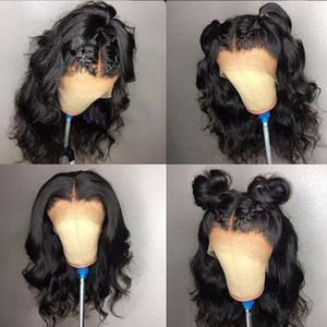 9A Glueless Full Lace Wigs With Baby Hair Loose Wave Pre Plucked Lace Front Human Hair Wigs Brazilian Virgin Short For Black Women