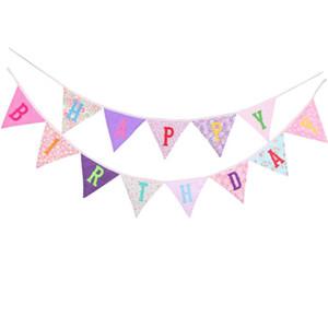 Prêt à accrocher joyeux anniversaire bannière Bunting pré-cordés plusieurs couleurs signe de Bday coloré décoration de fête livraison gratuite