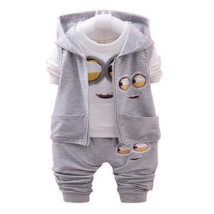 Cute Children Clothing Sets Spring Autumn Baby Girls Boys Suits Cartoon Coats Vest Pants 3 Pcs Casual Suits Kids Infant Newborn Clothes