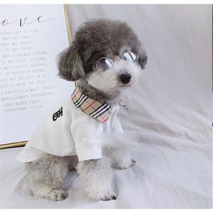 Neueste Designer Haustiere Polo Shirts Mode-Streifen-Muster Coats Frühling Thin Teddy Schnauzer Kostüme Bekleidung