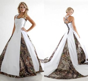New Arabic Camo Wedding Dresses Plus Size Vintage Appliques Sweetheart Crises Cross Back Ball Gown Bridal Wed Gowns with Chapel Train