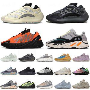 Zapatillas de deporte Kanye 700 500 de alta calidad para 2020 Azael Alvah Naranja Azul Avena Carbono Soft Vision Zapatillas de deporte reflectantes Zebra Wave Runner
