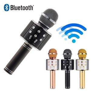Microfone sem fio bluetooth WS858 condensador profissional karaoke microfone stand rádio mikrofon studio studio de gravação WS 858