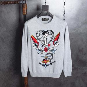 DUYOU Nuevo diseño de lujo de los hombres los hombres suéter de marca ropa sencilla de impresión ocasionales jerséis de punto de alta calidad para DY702431 masculina