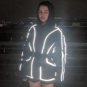 3M Reflective женщины Дизайнер Комбинезоны 20SS Женская мода Набор панелей тонкого комбинезон с застежкой-молнией