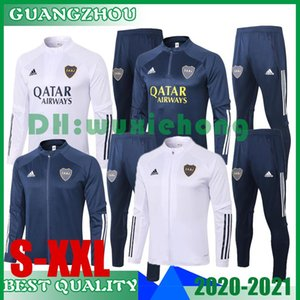 2020 2021 Boca Juniors jaqueta adulto agasalho 20 21 Boca Juniors completa zipper conjunto de treinamento de futebol GAGO TEVEZ PAVON DE ROSSI fato de treino