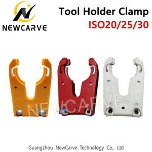 NEWCARVE ISO30 outil Porte-Clamp Antidéflagrant Porte-outil en caoutchouc Griffe Fourchettes Cnc Router