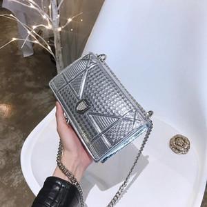 2019 bolsos de diseño de alta calidad de las señoras de la cadena del hombro de Patentes bolsa de cuero del diamante bolsos de tarde Cross Body Bag Envío gratuito para bolsos