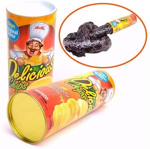 Halloween Scary Snake Toys Funny Potato Chips Can Trick Novelty Horror Snake Toys Tricky Toys Game April Fools's Day 135cm