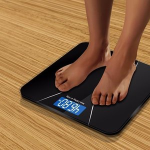 A2 Precision Bathroom Scale Body Smart Electronic Digital Weight Home Floor Balance Toughened Glass LCD Display 180kg 50kg Y200106