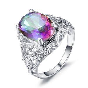 20200415 Hot venda de jóias sete cores rodada zircão anel de jóias antigas