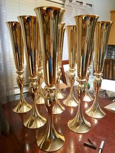 75cm / 100cm hoch) neue Art Gold geistige Straße führt Hochzeit Vase Hochzeit Tischdekoration Ereignis-Party-Blumen-Rack-Hauptdekoration senyu0303