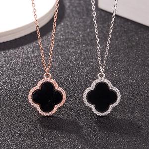 Collier créateur de bijoux de luxe pour les femmes 925 collier pendentif trèfle en argent sterling mode chaud gratuit d'expédition