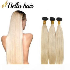 8A Brazilian Straight Hair Weaves In Bulk 1b 613 Blond Ombre Hair Bundles Extensions Human Hair Weft 3pcs lot Bellahair