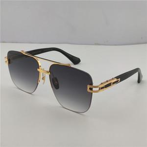 Новый роскошный дизайнер солнцезащитного очки 138 бескаркасных квадратной летающих рамки типа способа защиты половины кадра UV 400 объектива открытой популярной защитного