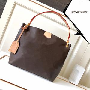 натуральная кожа изящные сумки GM MM кошельки коричневый цветок коричневый checker white checker tote клатч хозяйственная сумка crossbody сумки через плечо
