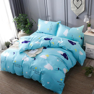 Brief Duvet Cover Sets Nordic Kids Bedding Set With Pillow case Bed Linens Single Double Queen King Size Bedclothes Quilt Covers