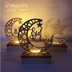 2020 Yeni Festival veya Parti Malzemeleri DIY Ahşap Eid Mubarak Ramazan Süsleme Müslüman İslam Hediye Ev Partisi Dekoru