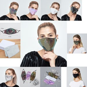 Blings Lectin Masks Queen 2 PM2.5 Filtros Filtros Funny Face Mask Bling y Mascarilla de tela de verano a prueba de polvo Máscara adulta para el polvo Hazo transpirable