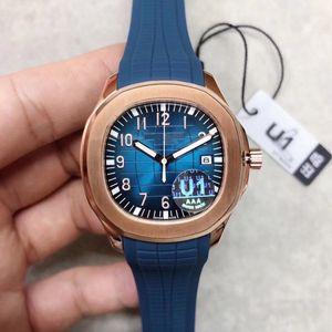 movimento U1 Fábrica Top Nautilus Grenade Mens Watch Aquanaut 2813 Automatic Movimento gravado pulseira de borracha Dial Azul 5711 Mens Relógios de pulso
