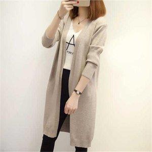 Svokor Femmes Cardigan Slim Version coréenne Imitation Vêtements de tricot à manches longues lâche cardigan chaude