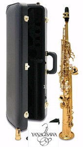 Soprano saxophone New Japan YANAGISAWA S901 B Flat Soprano saxophone High quality musical instruments professional free shipping