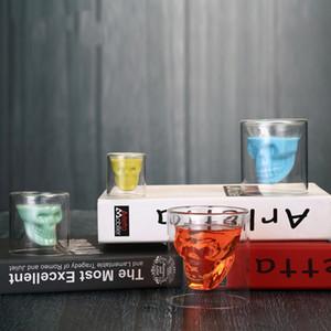 해골 투명 와인 컵 해골 유리 샷 맥주 유리 위스키 안경 크리스탈 해골 물 컵 창조적 인 바 파티 음료 용기 DBC DH1158