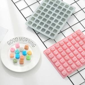 26 Letters Schokoladen-Form-Silikon-Puddingform Eiswürfelbereiter Handarbeit DIY Kuchen-Dekoration-Plätzchen-Form Bakeware Küche-Werkzeuge