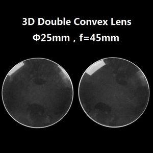 100 teile / los Acryl Durchmesser 25mm 45mm fokale BiConvex Objektiv für Google Pappe Virtual Reality 3D VR Gläser Objektiv DIY Großhandel