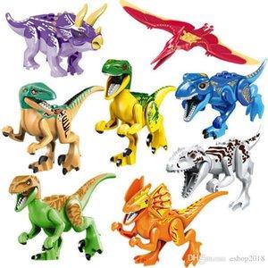 Новое строительство блоков Совместимость с Лепин Кирпичи Мир динозавров Модель Лепин Кирпичи Соберите игрушек детские образовательные творческие игрушки