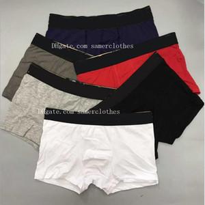 2020 Mens Underwear Boxer Shorts Sexy Underwear Casual Curto Homem respirável roupa interior de algodão Cueca Boxer Cueca Masculino Gay Boxer Hombre