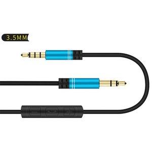 Áudio fio 3,5 milímetros Volume Pública Controle Headphone fio com áudio fio AUX no veículo