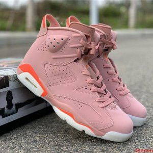 Pink Aleali May X Bright Pink Basketball Shoes 6S Designer Sport Sneakers Popular Trending Shoes for Men Womens Trainers Shoes in stock