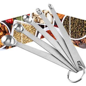 5 Pcs aço inoxidável resistente colher de medição Louça Acessórios Sauce Início colher de medição Balanças de cozinha Baking Ferramenta Mini BH2457 CY