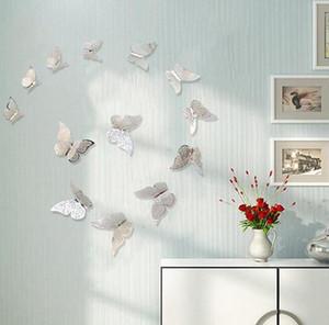 3D 중공 나비 예술 벽 스티커 데칼 침실 룸 홈 장식 파티 웨딩 텔레비전 냉장고 스티커 룸 장식 LSK102