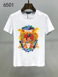 2020 T-shirt in puro cotone bianco La primavera manica corta girocollo Man Show sollecitudine per Customized sfoderato Moda 11284