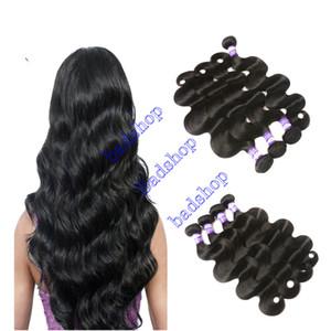 Brasileño teje la onda del cuerpo del pelo 9A Gran Calidad Virgen extensiones del cabello humano brasileño de la Virgen húmedo y precio barato ondulada paquetes de pelo