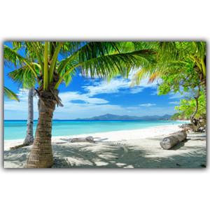 Tropical Praia Mar Paisagem Poster Art Poster Silk Decoração quadro vivo Wallpaper quarto