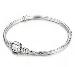 925 Sterlingsilber-Armbänder 3mm Schlange-Ketten-Fit-Charme-Korn-Armband-Armband Schmuck-Geschenk für Männer Frauen GB1671