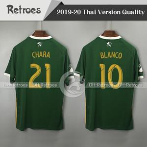 MLS 2019 포틀랜드 팀 홈 그린 축구 유니폼 19/20 발렌틴 # 21 CHARA # 10 블랑코 # 8 VALERI 축구 셔츠