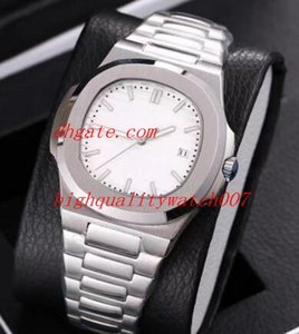 12 Style Best Quality Classic Series Nautilus 5711 / 1A 1R 010 40mm in acciaio inossidabile automatico meccanico trasparente orologi da uomo