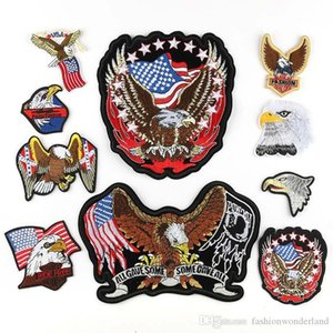 10pcs Mixed Eagle USA Falg Embroidered Patch Iron On Patch Sewing Applique Clothes Patch Stickers Apparel Accessories