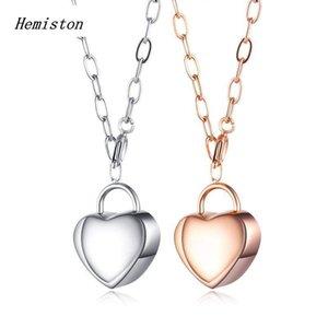 Hemiston Titanium Aço Pingente Amor Colar Para Mulheres dos amantes