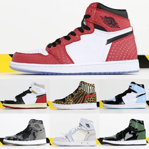 2019 Jumpman 1 i High Og Solefly X 1S Chicago Crystal Origin Story Shoes de baloncesto Sneakers Chaussures de Basketsball Sports Shoes