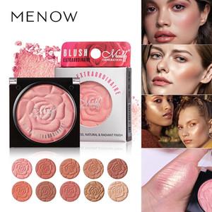MENOW Petals Single Blush Makeup Natural Lasting Silky Pigment Blusher Powder Matte Pearlescent Blusher Palette Ten Color Select B705