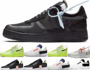 hors Forces Une partie 2 Volt Noir Blanc 2.0 Virgil Le Dix Designer Chaussures Noir Blanc Casual vert fluorescents ordinaires Chaussures Casual Sport Sneakers Tr