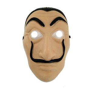 Cosplay Party Mask La Casa De Papel Mascarillas Salvador Dali Costume Movie Mask Realistic Halloween XMAS Supplies RRA1978