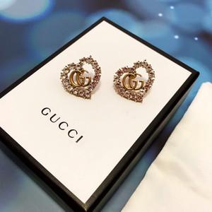 Amerikan sıcak tarzı sıcak satış earrings2020 lüks özelleştirme popüler logosu bahar ve yaz moda Retro seti elmas yeni küpe
