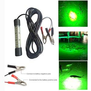 새우 미끼 물고기를 잡을 신선 또는 바닷물 빛 보트 해양 LED 빛을 유치 2PCS DC12-24V 30W 녹색 백색 LED 수중 물고기